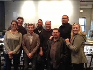 Tyler Fenton & girlfriend Emily, Jay Zimmerman, Adam Lehrman, Matt Russell, Jason Neri, Mike Katz & Amanda Neri