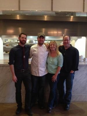 Garret Steffgen, Chef Ryan Clark, Jessica Nenadic & Matt Russell