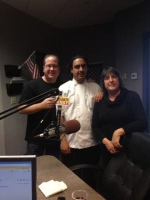 Matt Russell, Chef Omar Huerta & Rita Connelly