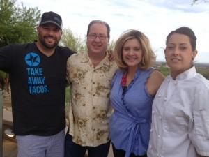 Brian Metzger, Matt Russell, Anne Davis & Chef Ginny Wooters
