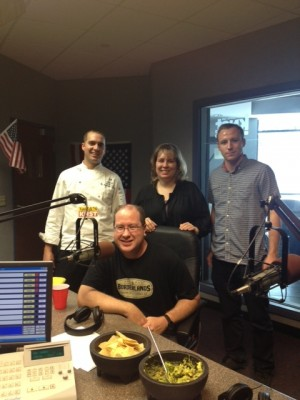 Chef Brandon Cathey, Matt Russell, Valerie Vinyard & Cameron Fisher