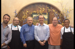 Adam Lehrman, Chef Augustin Sanchez, John Kulikowski, Matthew Landon, Matt Russell & Chef Bruce Yim