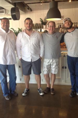 Manish Shah, Brandon Katz, Matt Russell & Chef Pen Jones