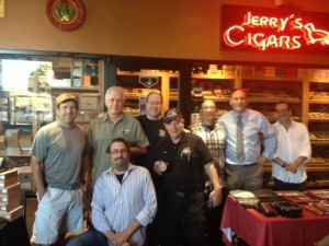 A cast of true cigar celebs from our live broadcast