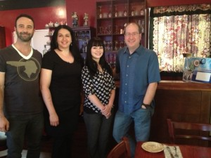 Adam Lehrman, Natasha Kalina, her sister Jordan & Matt Russell