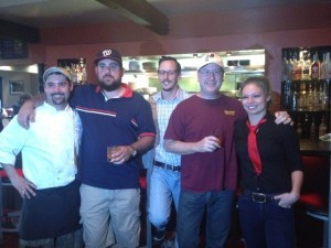 Chef Ken Foy, C.J. Hamm, Jon Tuck, Matt Russell & Sara Hartless