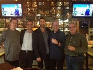Chef Patrick Malarchik, Grant Krueger, Steve Stratigouleas, Matt Russell & Fred Ronstadt