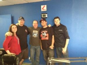 Melissa D'Auria, Jason Machamer, Matt Russell, C.J. Hamm & Chef Jamie Eldredge