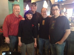 Pat Connors, Chef Tim Moore, Mike Cavers, Matt Russell & Dan Gibson