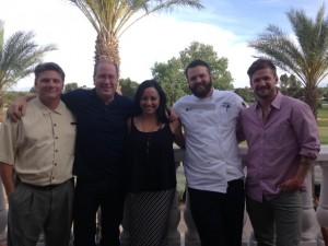 Jeffrey White, Matt Russell, Andrea Bravo, Chef Jonathan Stutzman & Nathan Ares