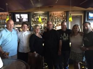 Show groupie Allen Kath, Chef Brian Smith, Kendra Johnson, Chef Albert Hall, Matt Russell, Toby Hall & Donald Northrup