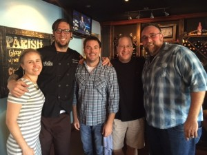 Laura Reese, Chef Travis Peters, Bryce Zeagler, Matt Russell & Nate Anderson