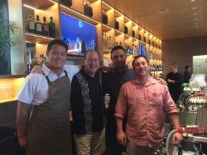 Chef Paulo Im, Matt Russell, Matt Martinez & Jamie Rice