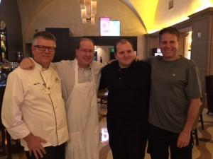 Chef Erik Savin, Matt Russell, Aaron DeFeo & John Brauneis