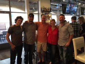 Engineer Jackson, Chef Ryan Clark, Matt Russell, Kim Kaiser & Brian Morris