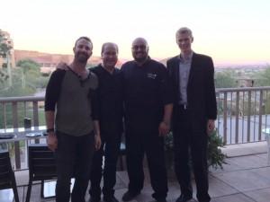 Adam Lehrman, Matt Russell, Chef Danny Perez & Andy Gordon