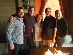Rick Cano, Tom Kaufman, Valerie Vinyard, Chef Dominic Jones & Matt Russell