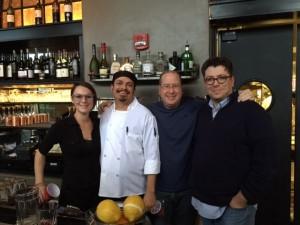 Jillian LaCroix, Chef Efrain Romero, Matt Russell & Dan Gibson