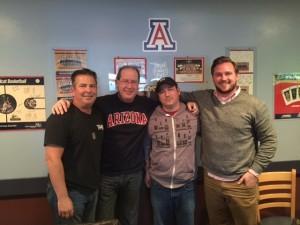 Dino Chonis, Matt Russell, Jamie Rice, and Chris Samson