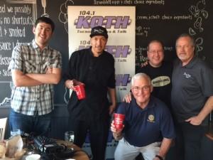 Myles Stone, Chef Andres Lopez, Tom Eiff, Matt Russell & Rick Fink