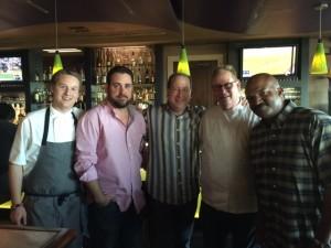 Chef Brian Smith, C.J. Hamm, Matt Russell, Chef Albert Hall & Jonathan Revies