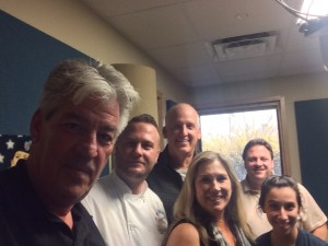 Mark Irvin, Chef Ryan Jones, Bruce Suppes, Debbie Wagner, Chuck the Producer & Goel Ellis