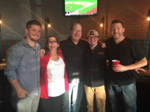 Nathan Ares, Rita Connelly, Matt Russell, Chris Squires & Brian Morris