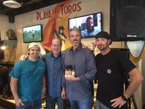 Andrew Carlin, Matt Russell, Mike Cotter & Chef Tiki Tim Stevens