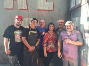 C.J. Hamm, Chef Ramiro Scavo, Matt Russell, Rod Miller and the Mrs. & Michael Lopez