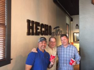 Ray Flores, Matt Russell & Chef Gary Hickey