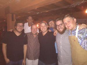 Tyler Fenton, Matt Russell, Brandon Dillon, Stephen Ott & Jon Holcomb (and a photo bomb by one of our groupies Roger Hathorn!)