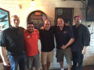 John Hand, Zach Clark, Matt Russell, Rich McKnight & Chef Will Adams