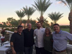 Mike Lopez, Matt Russell, Chef Jonathan Stutzman, Bridget Mosher & Jeff White