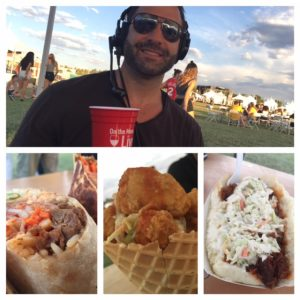 Steve Stratigouleas, Commomer's Asian beef and kimchi burrito, Bird's chicken waffle cone & BrushFire's smoked brisket sandwich
